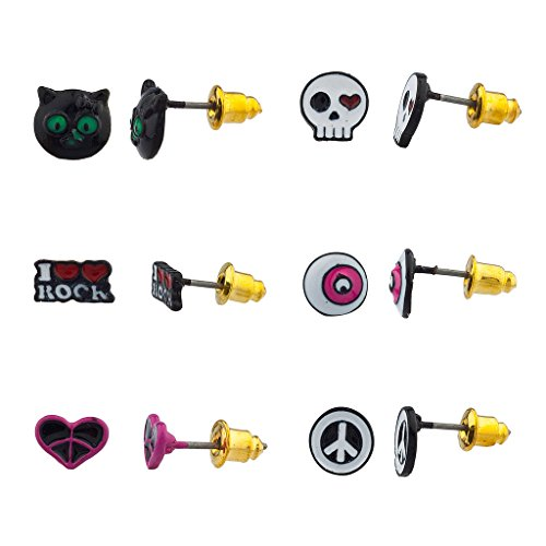 lux-accessoires-noir-chat-hello-kitty-coeur-crane-love-rock-n-roll-eye-paix-multiples-ensemble-boucl