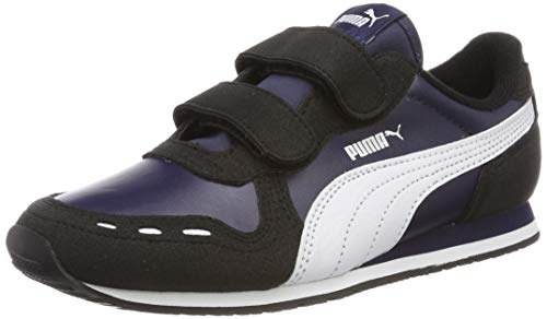 Puma Cabana Racer SL V PS, Unisex-Kinder Sneakers, Blau (Peacoat-Puma Black-Puma White), 33 EU (1 UK)