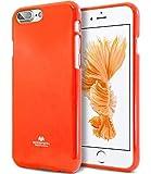 KILRELF Neon iPhone 8 Plus / 7 Plus [Coque néon] Coque fluorescente souple [Style club / Fête à la mode] Boîte à gélatine [Anti-ternissement / prévention des chutes] (iPhone 8Plus/ 7Plus, Néon Orange)