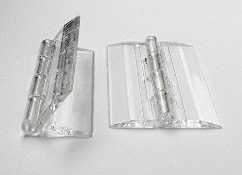 25x 33mm transparent Acryl Scharnier, PMMA Plexiglas transparent zusammenklappbar Scharnier Möbel Zubehör von Meya, 50/Menge (33% Acryl)
