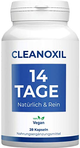 Cleanoxil | 14 Tage Kur | effektiv | Natürlich & rein | Vegan | DARMFLORA | Reinigung | 28 Kapseln
