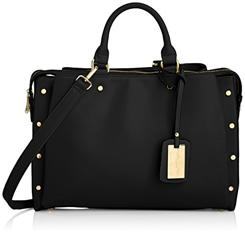SwankySwans - Michelle Pu Leather Work, Sacchetto Donna Nero (Nero)