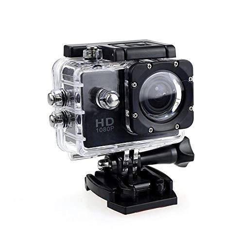 KOBWA Caméra d'action 4K Full HD 1080p étanche Caméra de Sport étanche 5,1 cm LCD sous l'eau 30 m de Profondeur 110° Grand Angle Kit d'accessoires de Montage, No