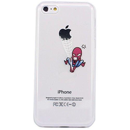 JIAXIUFEN TPU Coque - pour Apple iPhone 5C Silicone Étui Housse Protecteur - Amusantes Capricieux Dessin Chased Fight Color14
