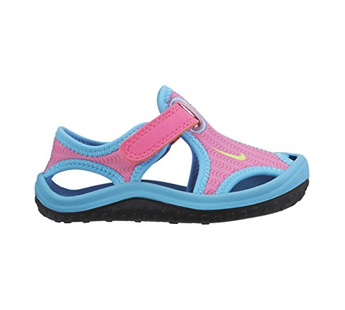 Nike Sunray Protect (Td), Baskets Basses Mixte Bébé Multicolore - Rosa / Verde / Azul / Negro (Pink Blast / Ghst Grn-Gmm Bl-Blk)