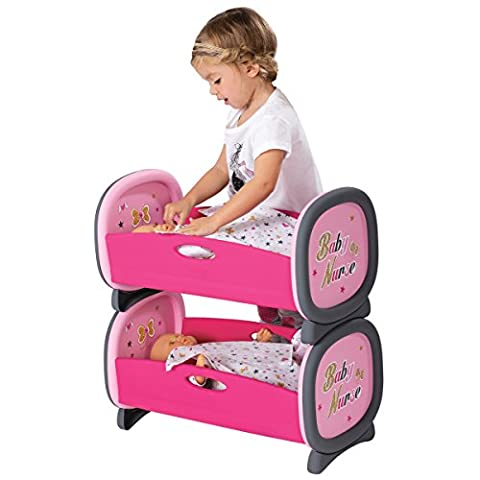 Smoby Baby Nurse Twin Bed Set Age 2+ Years Pretend Role Play