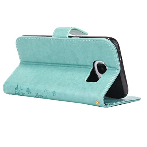 Mo-Beauty , Sac bowling pour femme gris Samsung Galaxy S6 Green