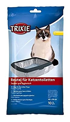 Bulk - Trixie Cat Litter Tray Bags, 46 59 cm, 10 Packs Of 10 - 100 Pieces