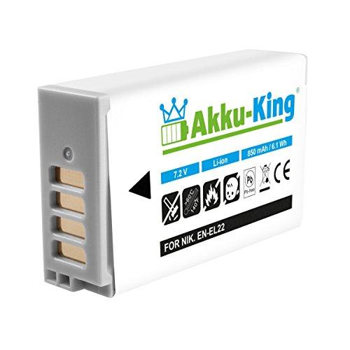 Akku-King Akku kompatibel zu Nikon 1 J4, 1 S2 - ersetzt EN-EL22 - Li-Ion 850mAh