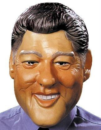 Clinton Kostüm Halloween (Clinton Maske Halloween Kostueme Maske Gesicht Maske Over-the-Head-Maske Kostuem Stuetze Scary Creepy Schreckliche Maske Latex Maske fuer Maskerade Make-up)