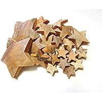 27 Kokossterne Mix Natur braun Weihnachten Potpourri Deko Sterne Advent Gesteck Kranz Weihnachtsgeschenke