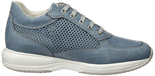 Geox Damen D Happy A Sneakers Blau (Denimc4008)