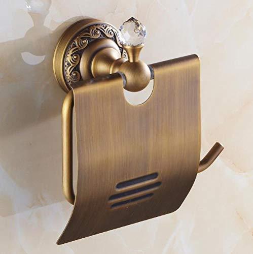Rollenhalter Toilettenpapierhalter Chrom Messing Toilettenpapierhalter Vergoldet Antik Badezimmer Toilettenpapierhalter Tissue Holder-Lila_