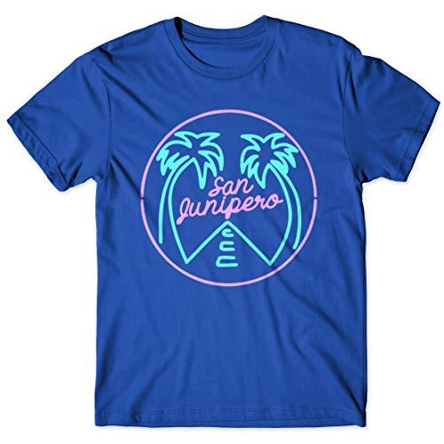 LaMAGLIERIA Camiseta Hombre Black Mirror San Junipero - Camiseta 100% algodón TV Show t-Shirt, L, Azul