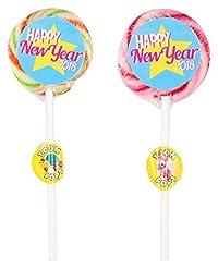 TOONPOPS LOLLIPOPS TPHNY25R Happy New Year Lollipops, 300 Grams (Pack of 12)