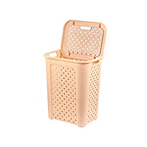 Cello Classic Plastic Laundry Basket, 30 Litres, Beige