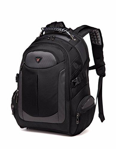 Laptop Rucksack, Damen Herren Wasser-resistent Lässiger Daypacks Schüler Schultaschen of 2 Side Pockets für 17 Zoll Business Notebook Laptop zum Wandern, Bergsteigen, Reisen und für Sport und Camping