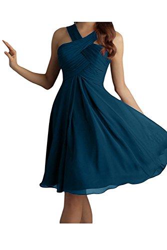 La mia Braut Dunkel Blau Damen Mini Chiffon Abendkleider  Brautjungfernkleider Partykleider Jugendweihe Kleider Kurz-38 Dunkel Blau b6e5e00d2b