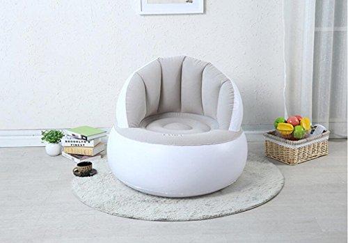 LHL-SF Aufblasbares Sofa Sitzsack Stuhl Klappbare Einzel Sofa kreative Nette kleine Sofa Erwachsene Schlafzimmer Sofa im Wohnzimmer (Farbe : Gray) -