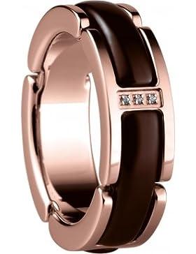 Bering Time Schmuck Ring Edelstahl Keramik braun rosévergoldet 502-39-X5 Gr. 49-59