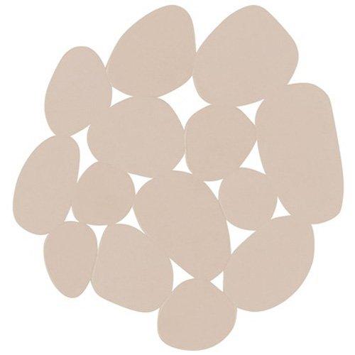 MSV PVC rutschfest Pebbles Bad-Teppiche, beige, 4Stück