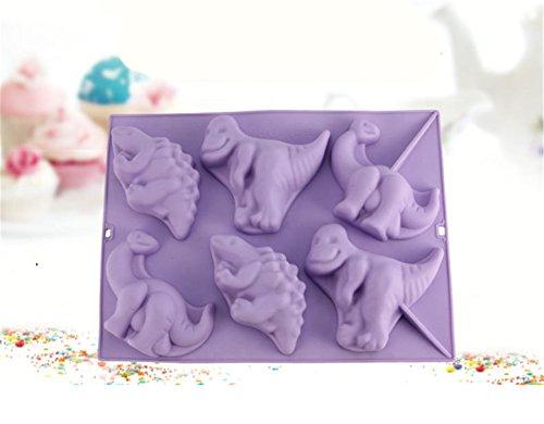 FantasyDay® Premium Antihafteigenschaft Silikon Backform / Muffinform für Muffins, Cupcakes, Kuchen, Pudding, Eiswürfel und Gelee - Dinosaurier Form Brotbackform für eindrucksvolle Kreationen, hochwertige - Dinosaurier-kuchen-form