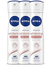Nivea Whitening Talc Touch Deodorant, 150 ml (Pack of 3)