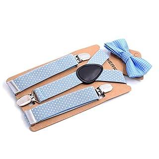 Awtang Children's strap clip tie set 3 clip suspenders