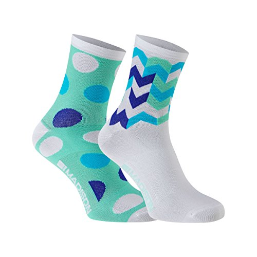 Sportive Women' s Mid Sock Twin Pack Blue