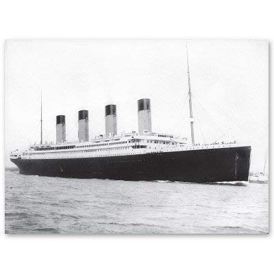 Titanic 1912 Leaving South Hampton Vinyl Sticker - Car Window Bumper Laptop Bumper Sticker Decal -