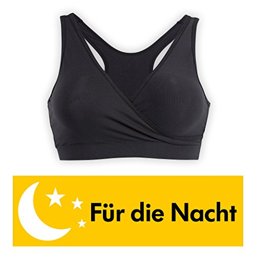 Medela Schlaf Bustier Still BH, für die Nacht, nahtlos, ohne Bügel - Schwarz - 95D