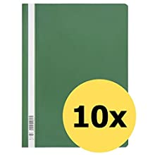 Elba 100742 - Cartellina in plastica, formato A4, 10 pezzi Moderno 31 x 22,8 x 0,3 cm verde