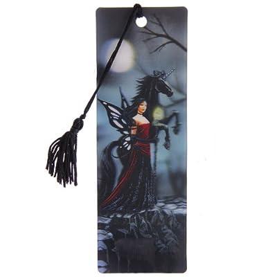 Lisa Parker 3D Bookmark - Dark Fairy with Black Unicorn