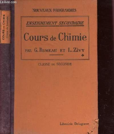 COURS DE CHIMIE / CLASSE DE SECONDE / ENSEIGNEMENT...