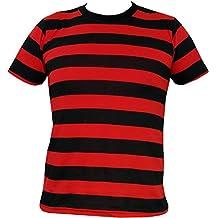 Rock Star Academy Negro y Rojo Rayas Camiseta