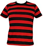 Search : Rock Star Academy Black and Red Striped T-Shirt