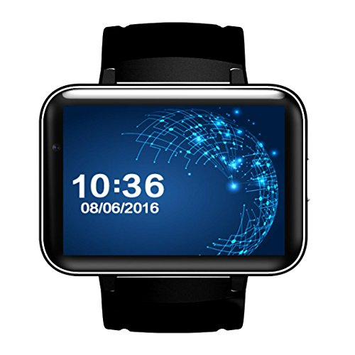 Hunpta DM98 Bluetooth Smart Watch Gesundheit Handgelenk Armband Herzfrequenz-Messgerät (Schwarz)
