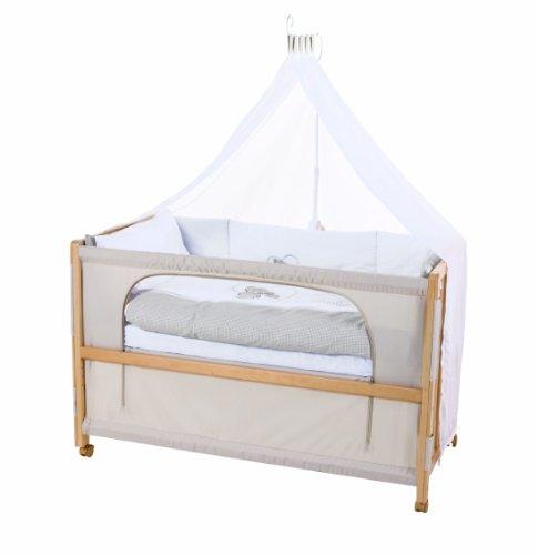 roba Beistellbett, Roombed, Babybett 60x120 cm 'Liebhabär', Anstellbett  zum Elternbett mit kompletter Ausstattung