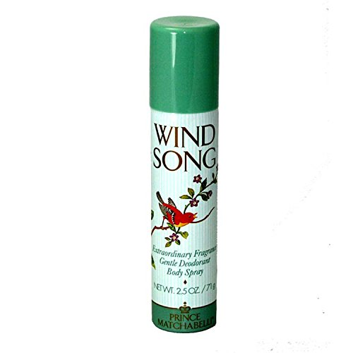 Prince Matchabelli Wind Song Deodorant Body Spray for Women, 2.5 Ounce by Prince Matchabelli -