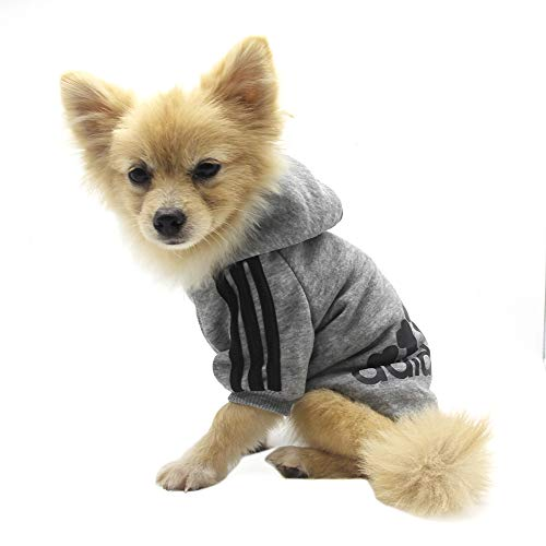 QiCheng&LYS Adidog Dog Hoodie Ropa, Mascota Cachorro Gato algodón Lindo cálido Sudadera...