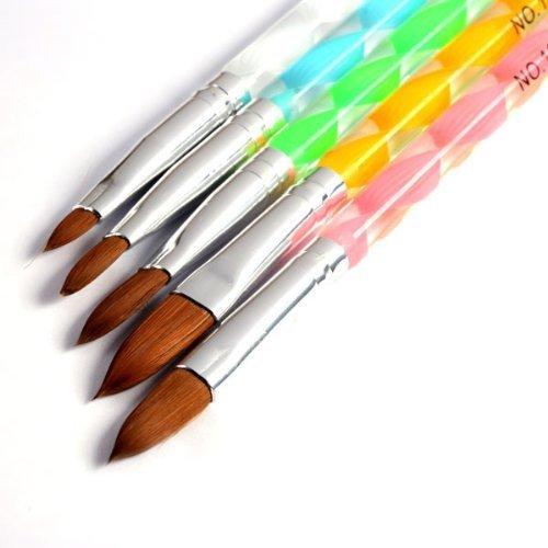 WANGSCANIS® Peinture 5Pcs Nouveau Acrylique 3D Dessin Gel UV Brosse Pen Outil bricolage Nail Art Set