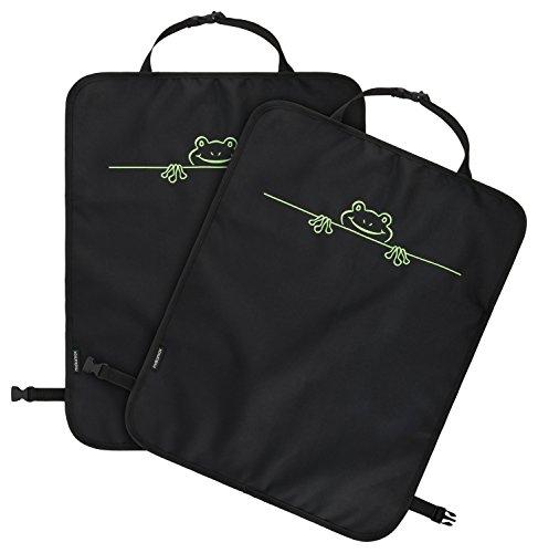 Rückenlehnenschutz (2 Stück) und Auto Rücksitz-Schoner für Kinder | Premium Qualität - gesticktes Motiv - top Passform - schmutzabweisend | Sitz-Schutz, Trittschutz, Rücklehnenschutz,