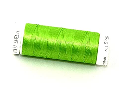 Mettler Polysheen Polyester Machine Embroidery Thread 200m 200m 5730 Apple Green - per spool