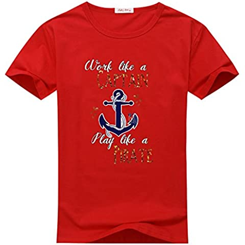 Andrew Earl Womens Anchor Comfortable Summer Cotton T-Shirts