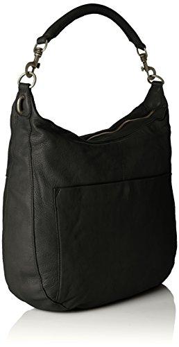 Liebeskind Pazia Sac à main porté épaule cuir 47 cm Black (Noir)