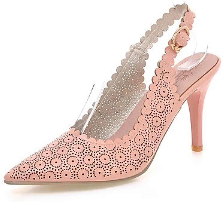 YFF Scarpe Scarpe Scarpe donna Stiletto Heel Sling back Punta sandali talloni,Arrossendo rosa,noi9.5-10 | Prima Consumatori  | Scolaro/Signora Scarpa  8f69e8