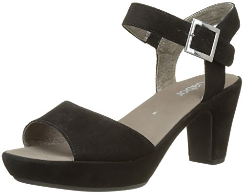 Gabor Shoes Fashion, Damen Plateausandalen, Schwarz (Schw.Ohne Strass), 40 EU