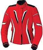 IXS Rina Damen Motorrad Textiljacke, Farbe rot-weiss-schwarz, Größe DS