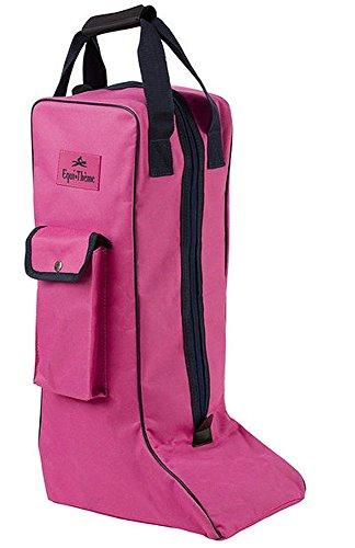Stiefeltasche pink/dunkelblau| Reitstiefeltasche | Tasche für Reitstiefel | Stiefelbeutel Equitheme