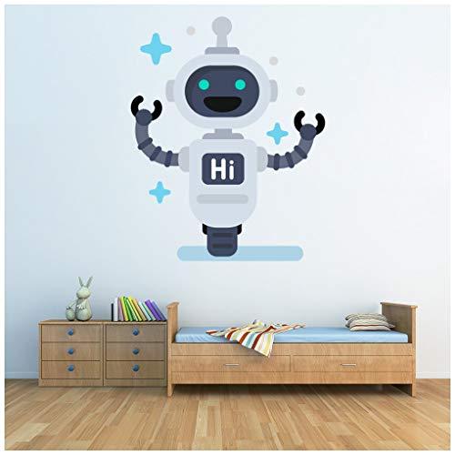 azutura Hallo Roboter Zukünftiger Raum Wandtattoo Erhältlich in 8 Größen XX-Groß Digital